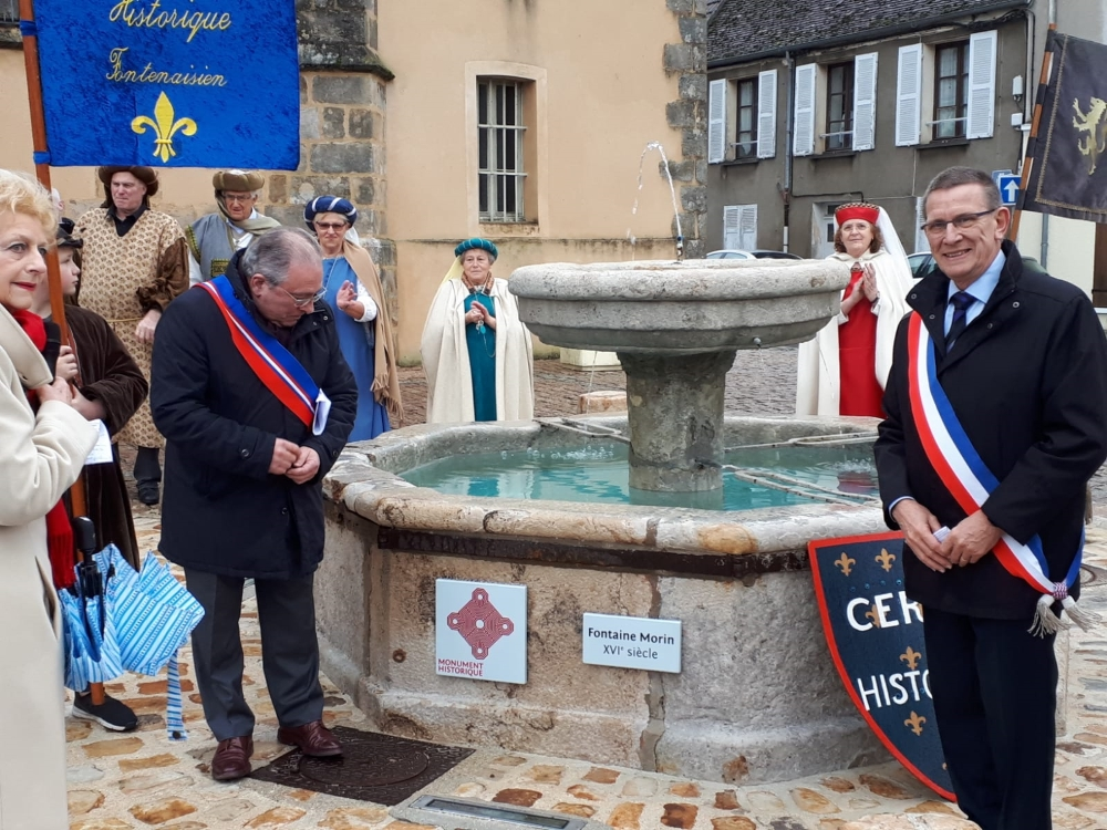 Inauguration Plaque Fontaine Morin